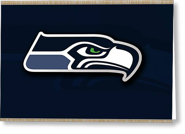 Pro Football Mixed Media Greeting Cards - Seattle Seahawks Greeting Card by Marvin Blaine
