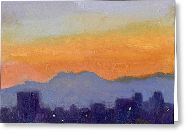 Seattle Washington Greeting Cards - Seattle Skyline Greeting Card by Diane McClary