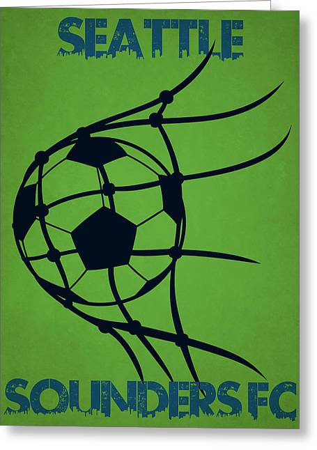 Seattle Greeting Cards - Seattle Sounders Fc Goal Greeting Card by Joe Hamilton