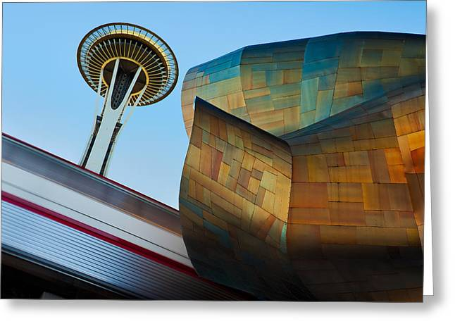 Seattle Center Greeting Cards - Seattle Trifecta Greeting Card by Thorsten Scheuermann