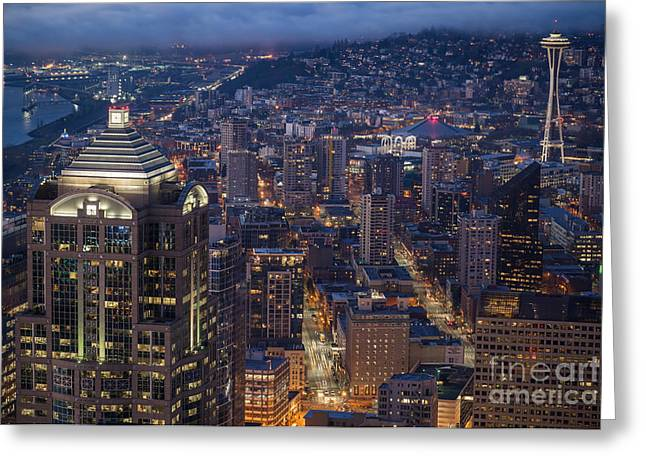 Mike Reid Greeting Cards - Seattle Urban Details Greeting Card by Mike Reid