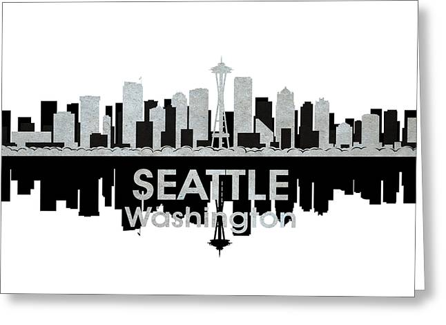 Industrial Icon Greeting Cards - Seattle WA 4 Greeting Card by Angelina Vick