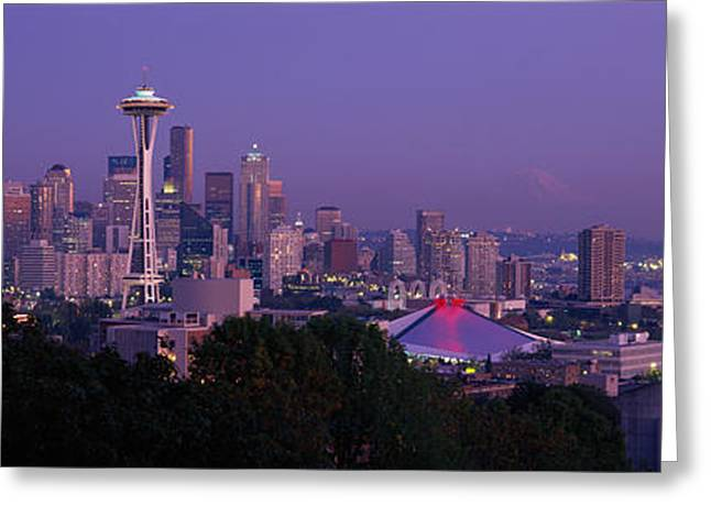 Wa Greeting Cards - Seattle Wa Usa Greeting Card by Panoramic Images