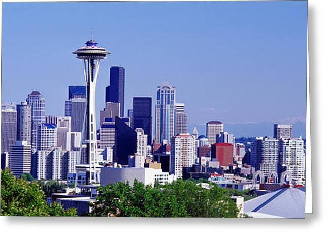 Office Space Greeting Cards - Seattle, Washington State, Usa Greeting Card by Panoramic Images