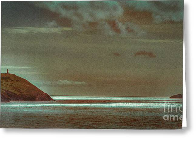 Spring Greeting Cards - Seaview from Polzeath Cornwall 1 Greeting Card by Curtis Radclyffe