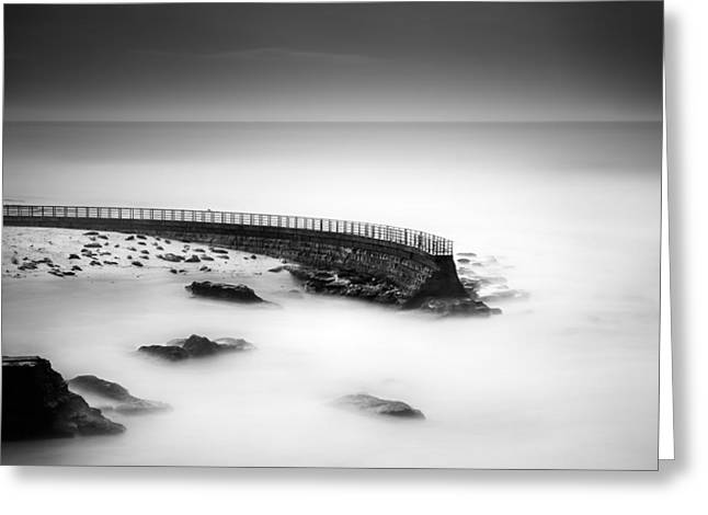 Seawall Greeting Card by Alexander Kunz