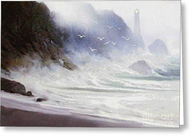 Robert Foster Greeting Cards - Seawall Greeting Card by Robert Foster