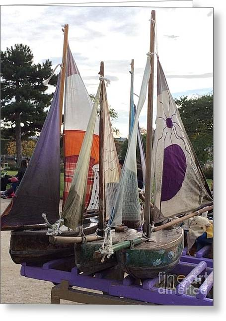 Cloth Greeting Cards - Seaworthy Veterans Greeting Card by Barbara Chase