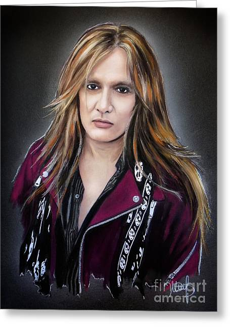 Skid Row Greeting Cards - Sebastian Bach Greeting Card by Melanie D