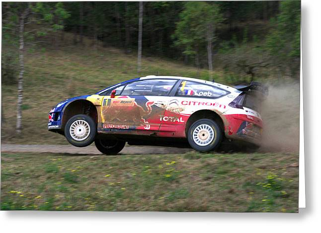 World Rally Championship Greeting Cards - Sebastien Loeb - Repco Rally Australia Greeting Card by Lyle McNamara