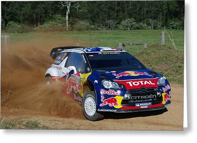 Wrc Greeting Cards - Sebastien Ogier - Rally Australia Greeting Card by Lyle McNamara