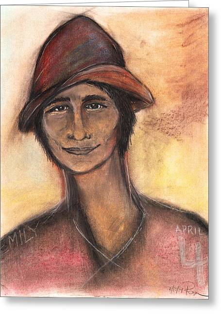 Dark Eyes Pastels Greeting Cards - Sebastien Greeting Card by Roger Hanson