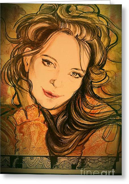 Ottilia Zakany Greeting Cards - Secession Greeting Card by Ottilia Zakany