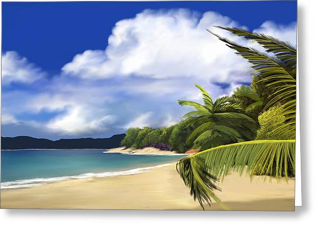 Seascape Art Greeting Cards - Secluded hideaway Greeting Card by Anthony Fishburne