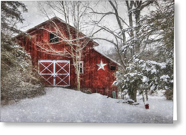 Barn Digital Art Greeting Cards - Secluded Greeting Card by Lori Deiter