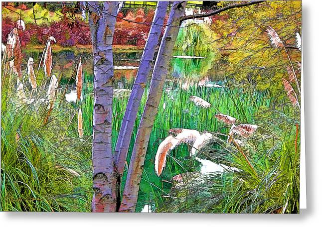 Secluded Pond Greeting Card by Chuck Staley