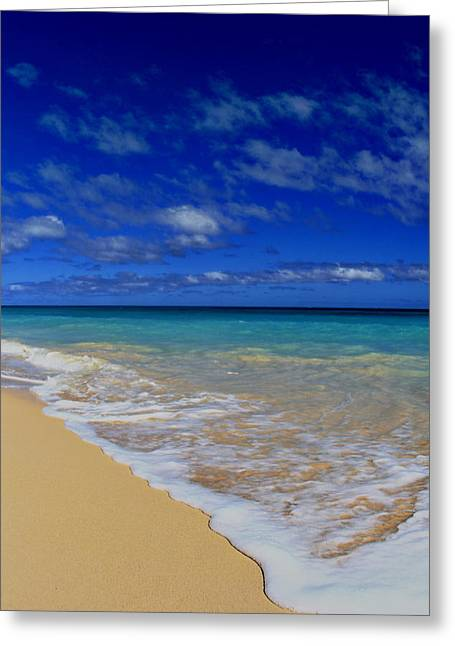 Locals Only Greeting Cards - Secluded Waimanalo Beach Hawaii Greeting Card by Richard Cheski