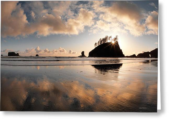 Onp Greeting Cards - Second Beach Greeting Card by Leland D Howard