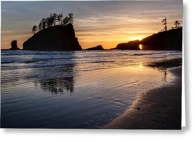Second Beach Tranquility Greeting Card by Mike Reid