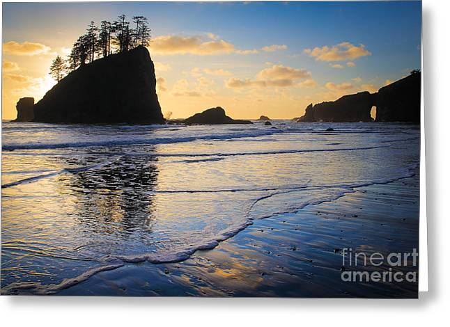 Soothing Greeting Cards - Second Beach Waves Greeting Card by Inge Johnsson