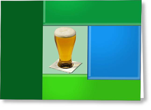 Installation Art Greeting Cards - Second Beer on the wall Greeting Card by Tina M Wenger