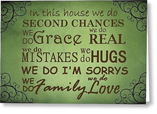 Family Love Greeting Cards - Second Chances In This House Greeting Card by Movie Poster Prints