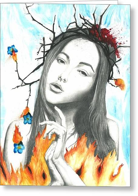 Forgotten Drawings Greeting Cards - Second Coming Greeting Card by Kaitlyn McRae