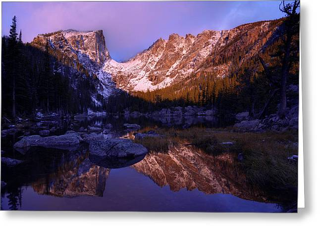 Pine Tree Photographs Greeting Cards - Second Light Greeting Card by Chad Dutson
