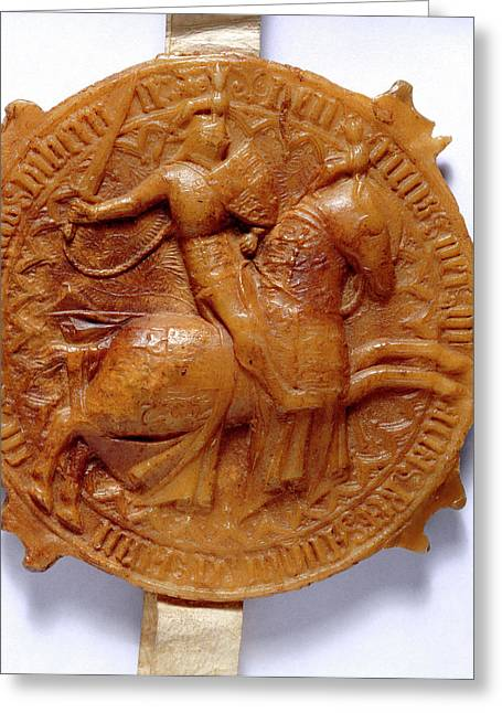 Second Seal Of King Henry Iv Greeting Card by British Library