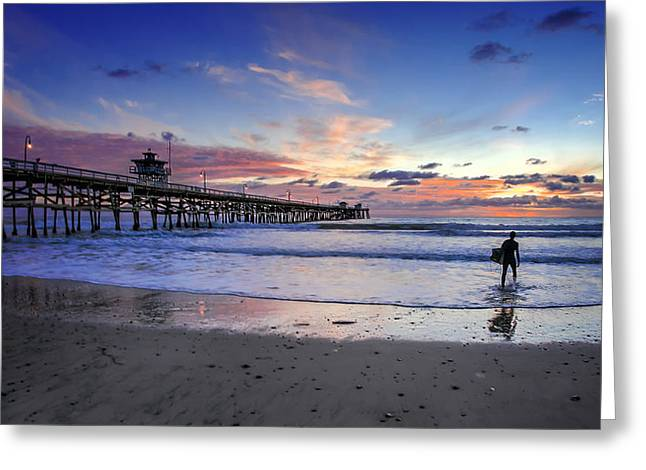 Recently Sold -  - Ocean. Reflection Greeting Cards - Second Shift Greeting Card by Sean Foster