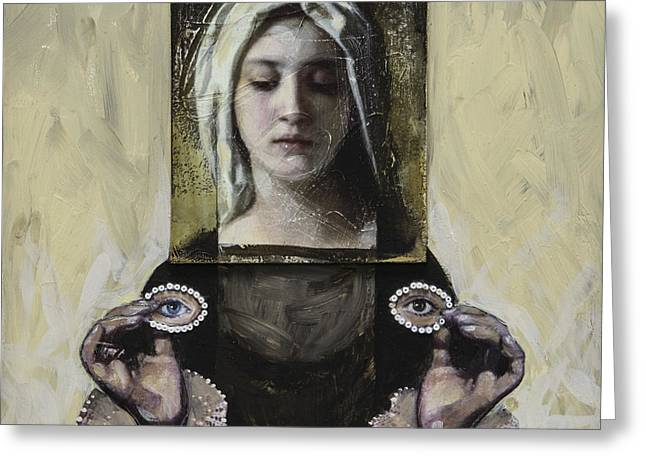 Recently Sold -  - Religious Mixed Media Greeting Cards - Second Sight Greeting Card by Darlene McElroy