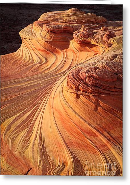 Carved Greeting Cards - Second Wave Flow Greeting Card by Inge Johnsson