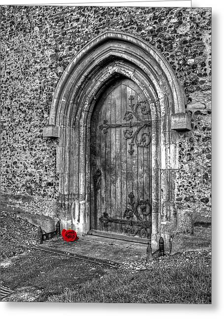 Entryway Greeting Cards - Secret Admirer Greeting Card by Gill Billington