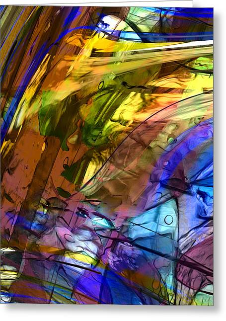 Abstract Expressionist Greeting Cards - Secret Animal Greeting Card by Richard Thomas