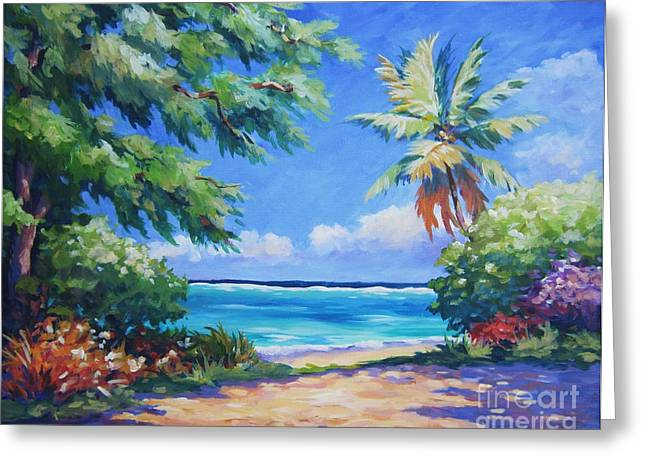 Carlton Greeting Cards - Secret Beach  Greeting Card by John Clark
