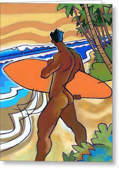 Secret Break Greeting Card by Douglas Simonson