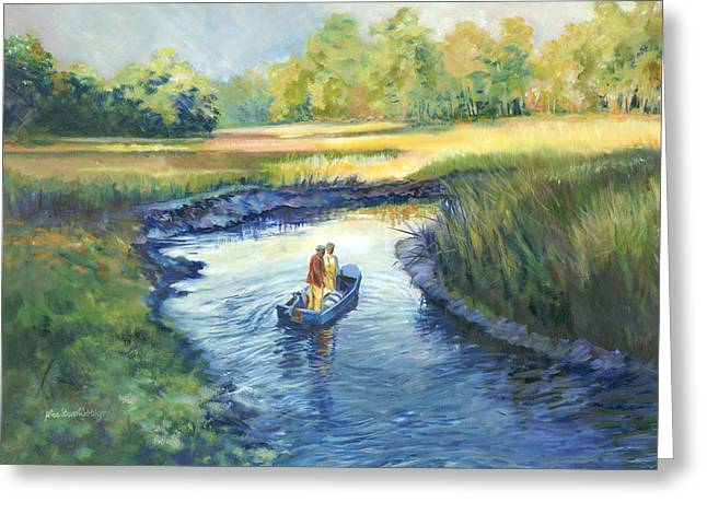 Fishing Creek Greeting Cards - Secret Fishing Hole Greeting Card by Alice Grimsley