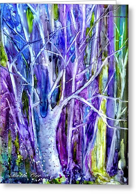 Fantasty Greeting Cards - Secret Forest Greeting Card by Bette Orr