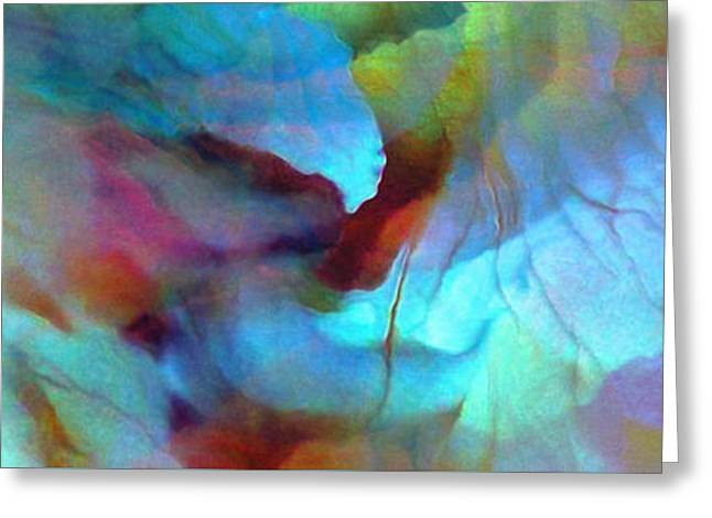 Prints Abstract Greeting Cards - Secret Garden - Abstract Art Greeting Card by Jaison Cianelli