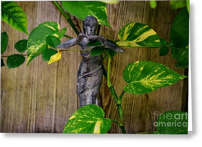 Garden Statuary Greeting Cards - Secret Garden  Greeting Card by Julie Adair