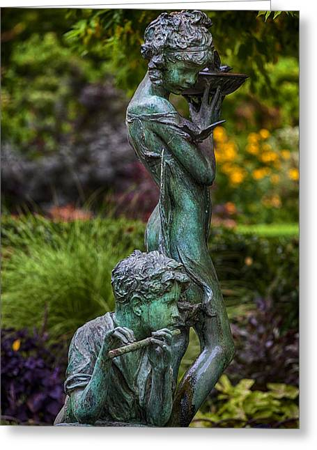 Garden Statuary Greeting Cards - Secret Garden Statuary Central Park NYC Greeting Card by Robert Ullmann