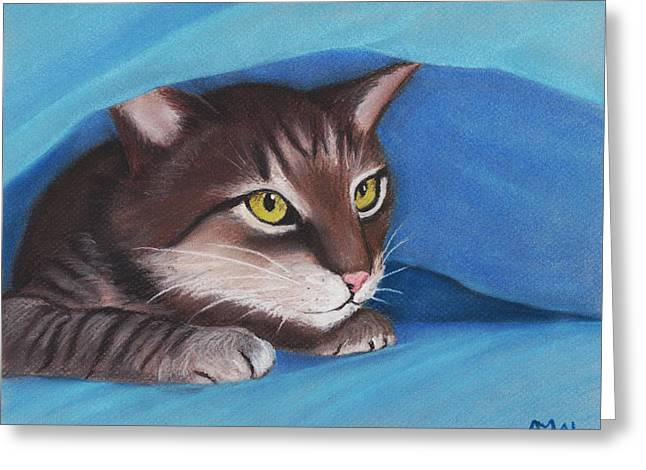 Fur Pastels Greeting Cards - Secret Hideout Greeting Card by Anastasiya Malakhova