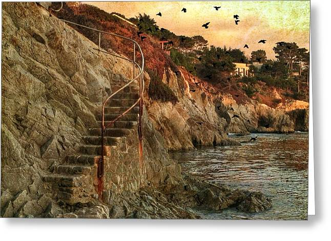 Big Sur Greeting Cards - Secret Ocean Cove Greeting Card by Charlene Mitchell