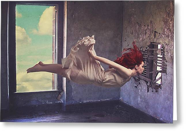 Levitation Photographs Greeting Cards - Secret Passage Greeting Card by Kim Zier