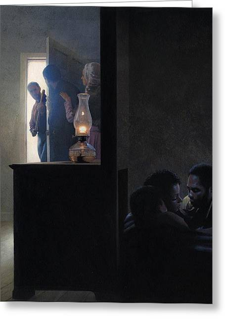 Underground Greeting Cards - Secret Room for Runaway Slaves Greeting Card by Rob Wood