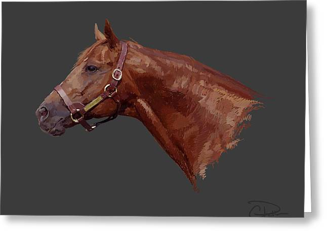 Belmont Stakes Greeting Cards - Secretariat Greeting Card by Charley Pallos