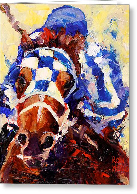 Stake Greeting Cards - Secretariat Greeting Card by Ron and Metro