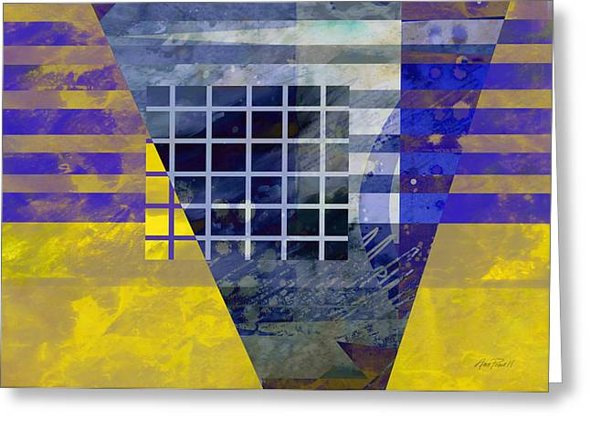 Secrets - Abstract Art Greeting Card by Ann Powell