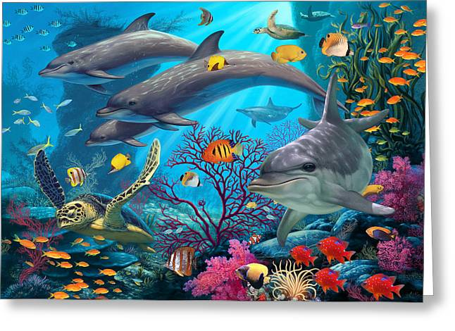 Exotic Fish Greeting Cards - Secrets of the Reef Greeting Card by Steve Read