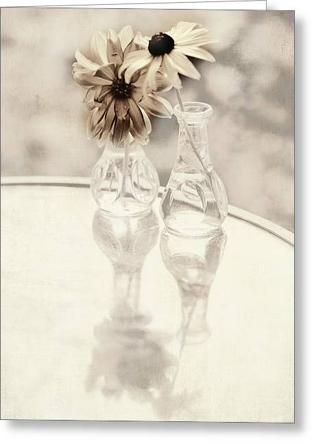 Soft Light Greeting Cards - Secrets Shared Greeting Card by Bonnie Bruno